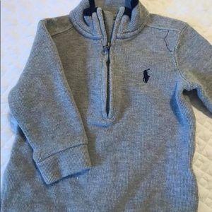 Ralph Lauren 1/2 zip sweater 9 month